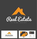 Real estate house roof logo icon. Real estate house roof vector logo icon design Stock Photos
