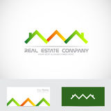 Real estate house roof logo Stock Photography