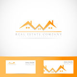Real estate house roof logo Royalty Free Stock Photos
