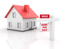 Real Estate - House for Sale - Sold Stock Photo