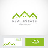 Real estate house shape logo Royalty Free Stock Images