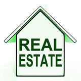 Real Estate House Shows Selling Property Land Or Buildings Stock Photography