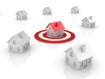Real Estate - House on Target Royalty Free Stock Photos