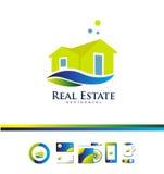 Real estate house villa logo icon design. Vector company logo icon element template real estate house villa property residential construction realty realtor 3d Stock Photos