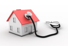 Real Estate - House With Stethoscope Royalty Free Stock Images