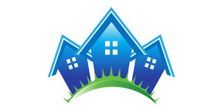 Real estate houses. Logo design Royalty Free Stock Photography