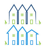 Real estate houses logos Stock Photo