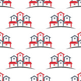 Real Estate houses seamless pattern background Stock Image