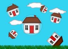 Real Estate Housing Bubble Burst. Illustration Stock Photo