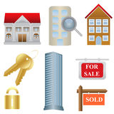Real estate and housing icons Royalty Free Stock Image