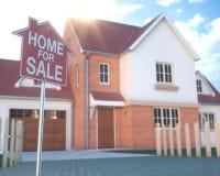 Real Estate-Huiszaken en Financiën Royalty-vrije Stock Foto