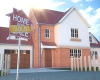 Real Estate-Huiszaken en Financiën Stock Afbeeldingen