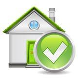 Real estate icon. Green right real estate icon Stock Image