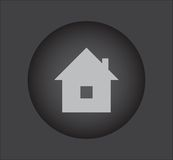 Real estate  icon on black button Stock Photos