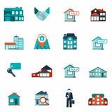 Real Estate Icon Flat Royalty Free Stock Photos