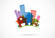 Real estate Icon. Illustration Of real estate Icon for business logo Royalty Free Stock Photography