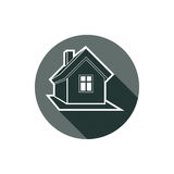 Real estate icon isolated on white, vector abstract house. Prope Royalty Free Stock Photo