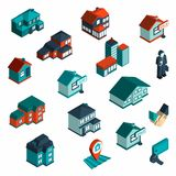 Real Estate Icon Isometric Royalty Free Stock Photography