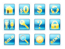 Real Estate Icon Set. Icon Set For Real Estate Business Stock Image