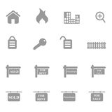 Real Estate Icon Set Royalty Free Stock Photos