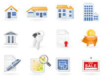 Real Estate icon set Royalty Free Stock Photo