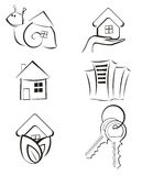 Real Estate -  Icon Set Royalty Free Stock Image