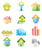 Real Estate -  Icon Set Royalty Free Stock Photography