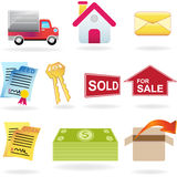 Real Estate Icon Set Stock Photo