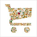 Real estate icon set cart Stock Photo