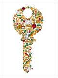 Real estate icon set key Royalty Free Stock Image