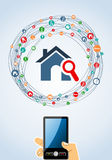 Real estate icon set mobile Stock Image