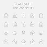 Real estate icon set Stock Photography