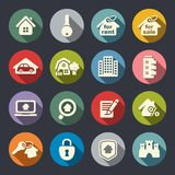 Real estate icon set. Vector illustration Stock Images