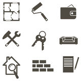 Real estate icon set  vector illustration Royalty Free Stock Photo