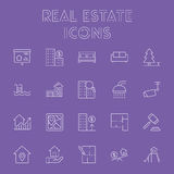Real estate icon set. Royalty Free Stock Photo