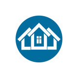 Real estate icon, vector abstract house. Property developer symb Stock Images