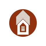 Real estate icon, vector abstract house. Property developer symb Stock Photo