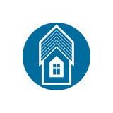 Real estate icon, vector abstract house. Property developer symb Stock Photos