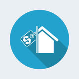 Real estate icon. Vector illustration of single isolated real estate icon Royalty Free Stock Images