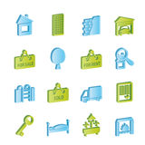 Real Estate icons Royalty Free Stock Photo