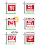 Real Estate Icons. Various Real estate icons  and signs Royalty Free Stock Images