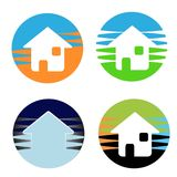 Real Estate Icons. A set of 4 real estate icons or logos Royalty Free Stock Image