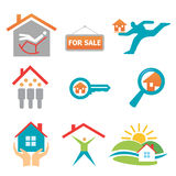 Real_estate_icons. Collection of real estate , property icons. Vector format Stock Photos