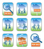 Real_estate_icons. Set of 9 professional real estate icons.Vector illustration Stock Photo
