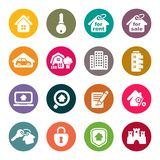 Real Estate Icons. Vector Illustration Stock Photography