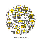 Real estate icons Royalty Free Stock Photography