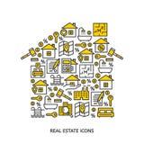 Real estate icons Stock Photos