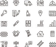 Real Estate Icons Clip Art Stock Photography
