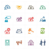 Real Estate Icons - Colored Series Royalty Free Stock Image