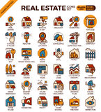 Real Estate icons. Real Estate concept detailed line icons set in modern line icon style concept for ui, ux, web, app design Stock Images